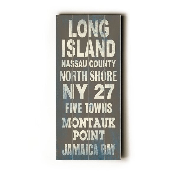 Long Island Textual Art by Artehouse LLC