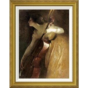 'A Ray of Sunlight (The Cellist)' by John White Alexander Framed Painting Print by Global Gallery