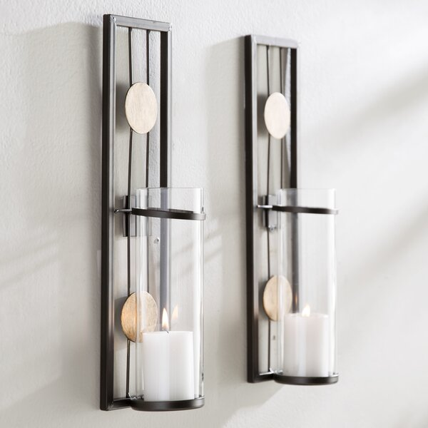 Contemporary Wall Sconce Candle Holder (Set of 2) by Brayden Studio