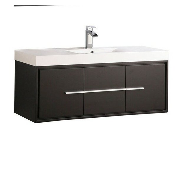Peirce Wall Mounted Modern 47 Wall-Mounted Single Bathroom Vanity Set by Orren Ellis