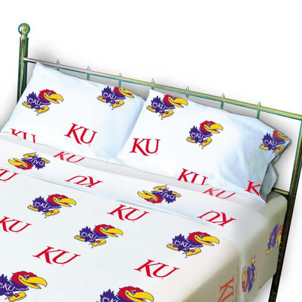 NCAA Kansas Pillowcase (Set of 2) by College Covers