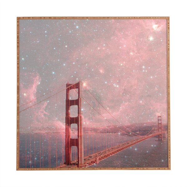 Stardust Covering San Francisco Framed Photographic Print by East Urban Home
