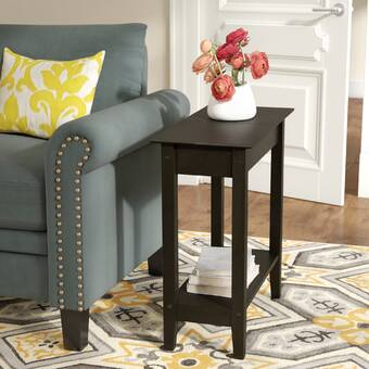 Andover Mills Haines Tray Top End Table With Storage Reviews Wayfair