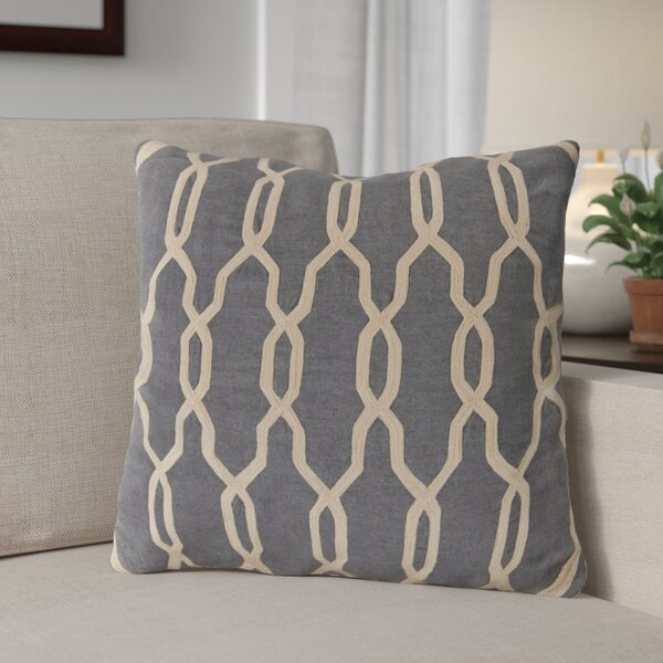 Edgell Geometric Throw Pillow by Red Barrel Studio