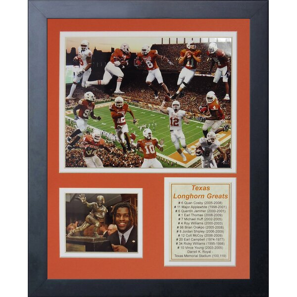 Texas Longhorn Greats Framed Memorabilia by Legends Never Die