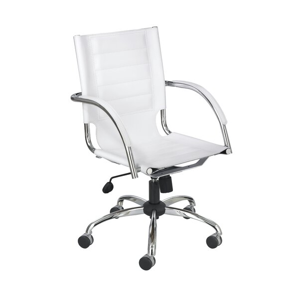 Burnie Modern Leather Office Chair by Wade Logan