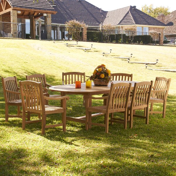 Thompson 9 Piece Teak Dining Set by Wildon Home ®