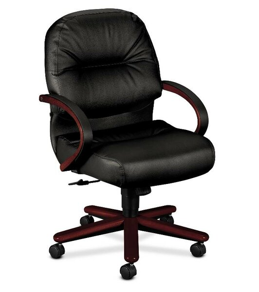 Mid-Back Leather Executive Chair by HON