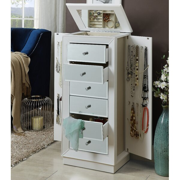 Streeter Jewelry Armoire with Mirror by Alcott Hill Alcott Hill