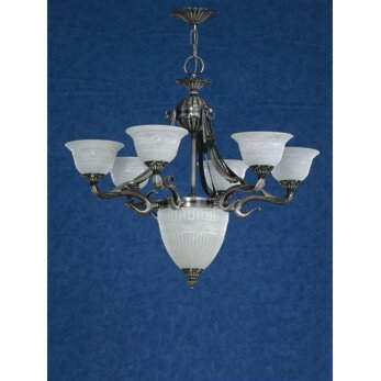 Saraso 7-Light Shaded Empire Chandelier by Zanin Lighting Inc. Zanin Lighting Inc.