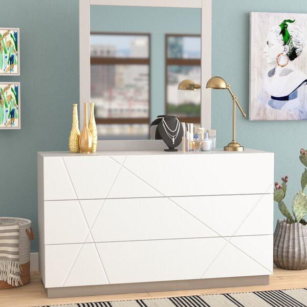 Manz 6 Drawer Double Dresser with Mirror by Orren Ellis