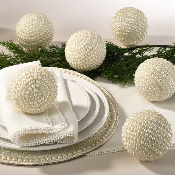Joyeux Noel Decorative Balls (Set of 4) by Saro