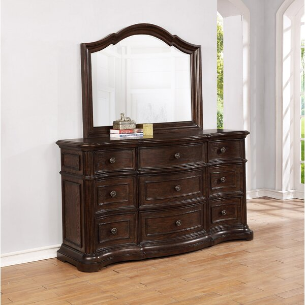 Aminah 9 Drawer Dresser with Mirror by Darby Home Co