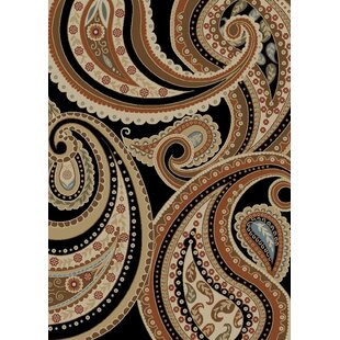 Check Prices Jocelyn Paisley Ebony Area Rug By Bloomsbury Market