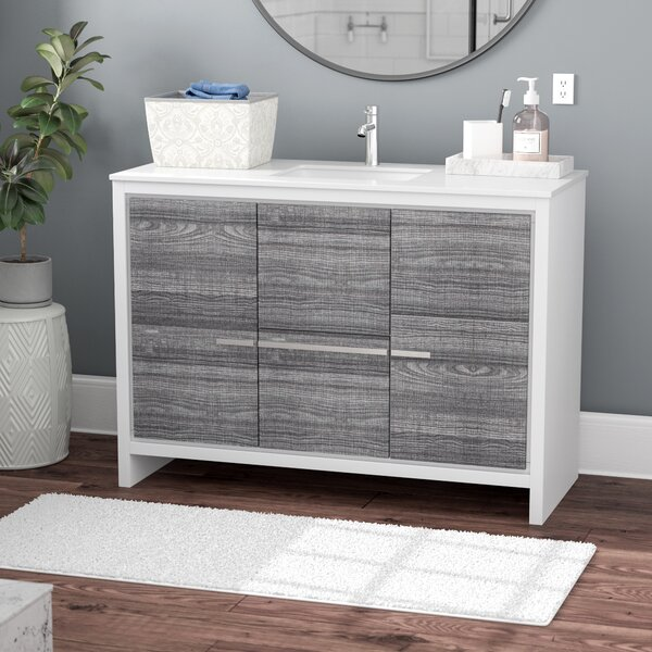 Bosley 48 Single Sink Modern Bathroom Vanity by Mercury Row