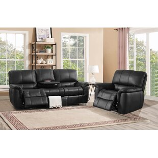 Averill Reclining Leather 2 Piece Living Room Set Darby Home Co