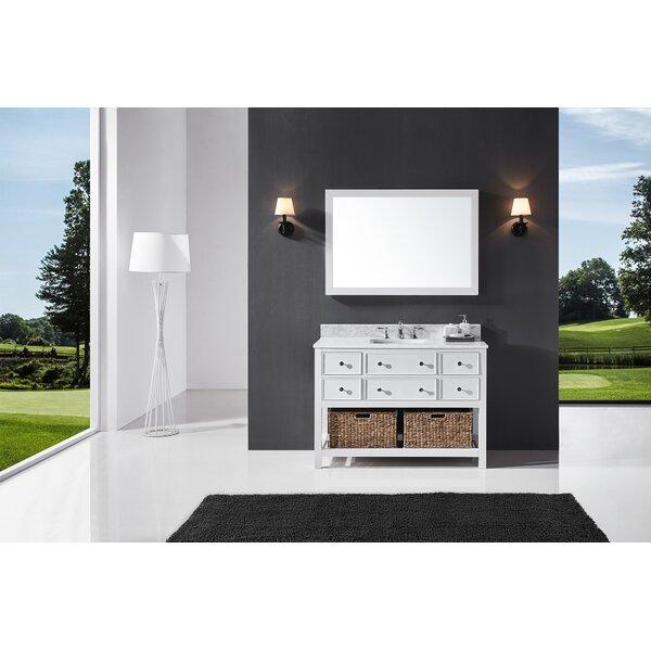 Celestia 48 Single Bathroom Vanity Set with Mirror by Three Posts