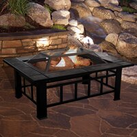 Deals on Millwood Pines Jahn Steel Wood Burning Fire Pit Table