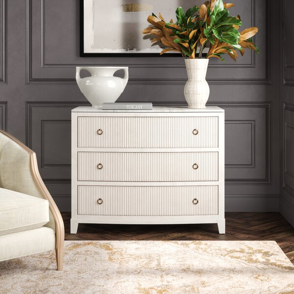 Rosalyn Antique Style Wood And Marble Chest
