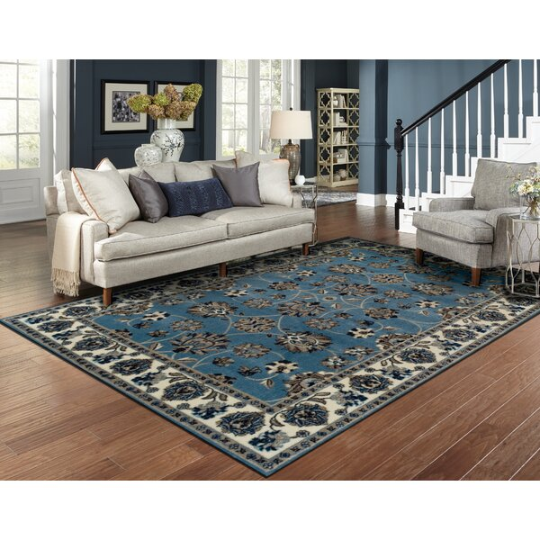 Resto Blue Area Rug by Charlton Home
