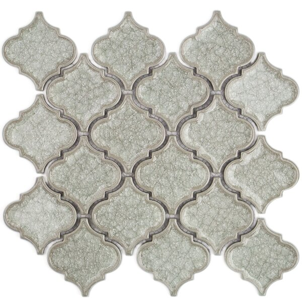 Roman Selection Glass Mosaic Tile in Iced Light Cream by Splashback Tile