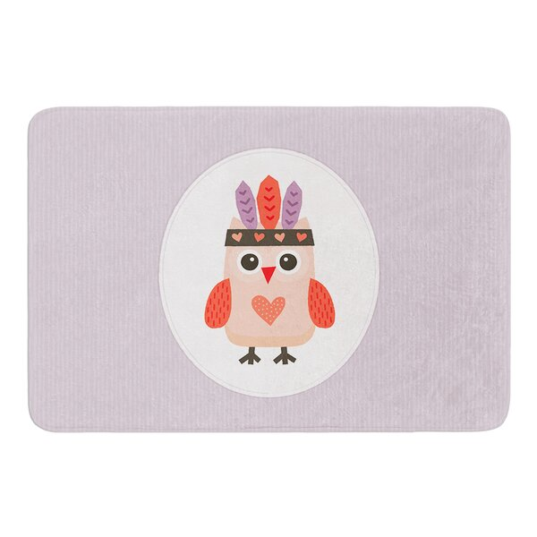 Hipster Owlet by Daisy Beatrice Bath Mat by East Urban Home