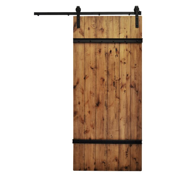 Drawbridge Solid Wood Room Dividers Knotty Alder Slab Interior Barn Door by August Grove