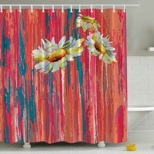 Read Reviews Daisies Print Shower Curtain ByAmbesonne