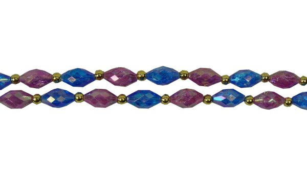 Iridescent Jeweled with Beads Christmas Garland by The Holiday Aisle