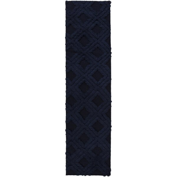 Audington Navy Rug by Bungalow Rose