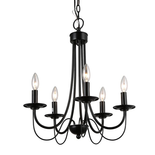 Bruges 5 - Light Candle Style Classic / Traditional Chandelier by Charlton Home Charlton Home