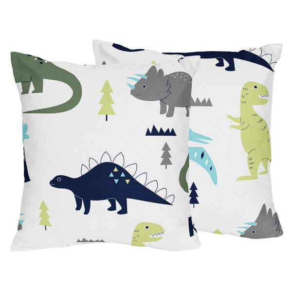 Mod Dinosaur Throw Pillow (Set of 2) by Sweet Jojo Designs