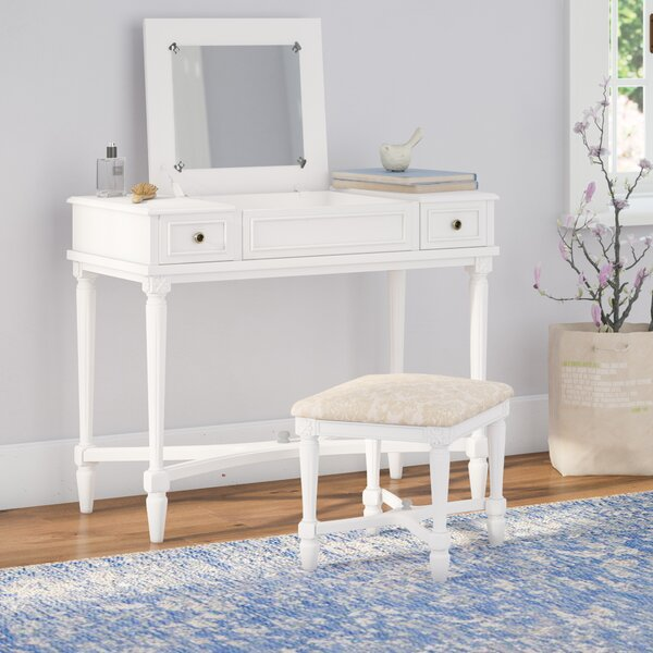 Amie Vanity Set with Mirror by Birch Lane Heritage Birch Lane™ Heritage
