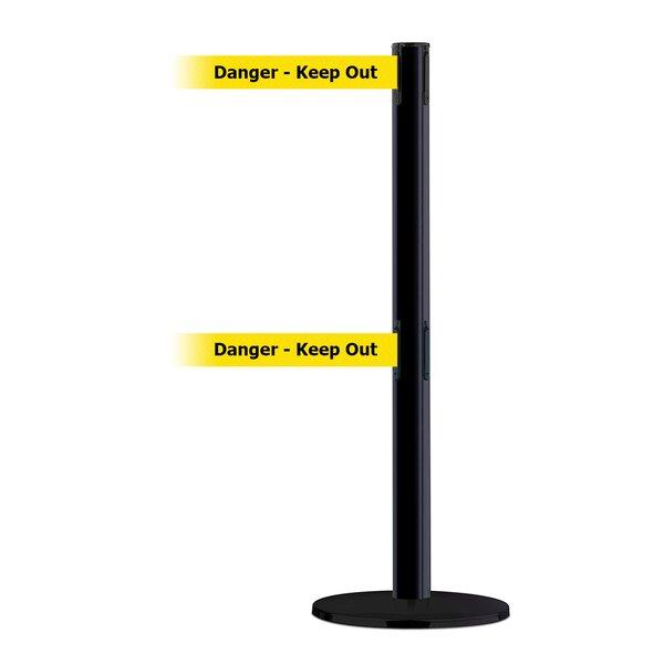 Dual Line Advance Tensabarrier Basics Base in Pre-Printed Danger-Keep Out Belt by Tensator