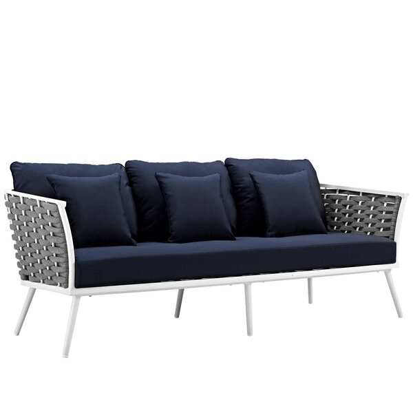 Rossville Outdoor Patio Sofa with Cushions by Ivy Bronx Ivy Bronx