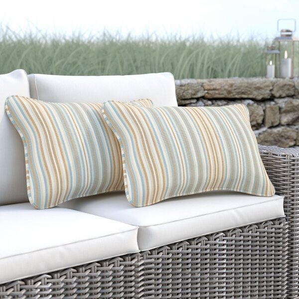 Cavisson Indoor/Outdoor Sunbrella Lumbar Pillow (Set of 2) by Rosecliff Heights