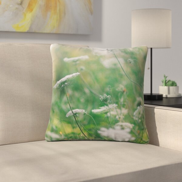 Queen Ann Floral Nature Outdoor Throw Pillow by East Urban Home