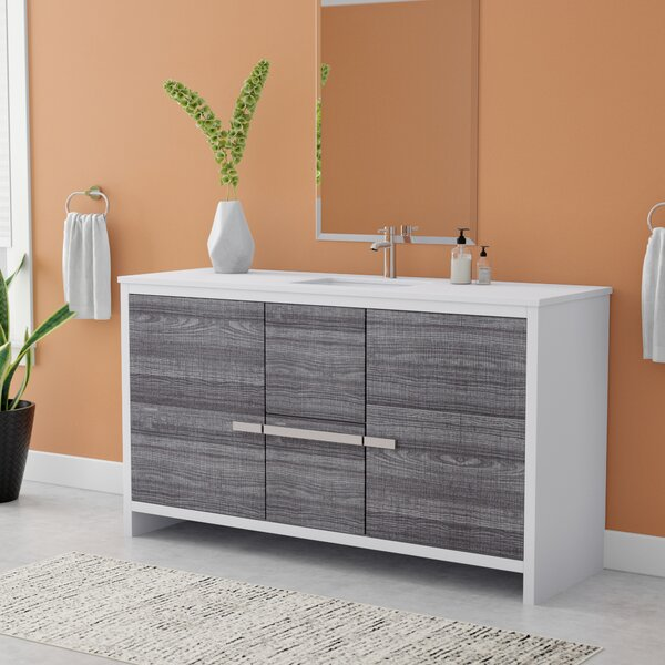 Bosley 58 Single Bathroom Vanity Set by Mercury Row