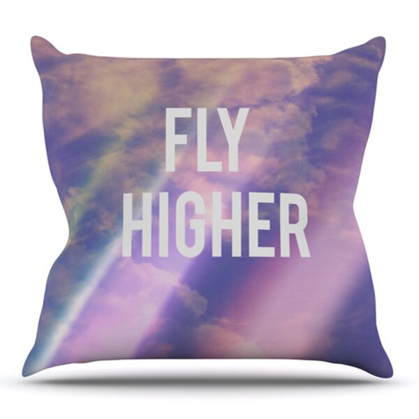 Fly Higher by Rachel Burbee Outdoor Throw Pillow by East Urban Home