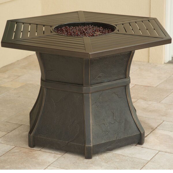 Aspen Creek High-Top Aluminum Propane Fire Pit Table by Hanover