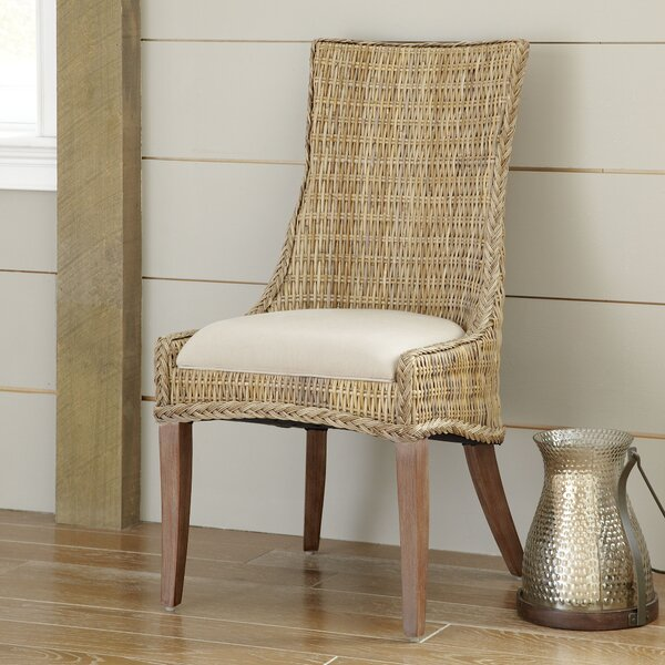 Caryville Wicker Upholstered Dining Chair (Set of 2) by Rosecliff Heights