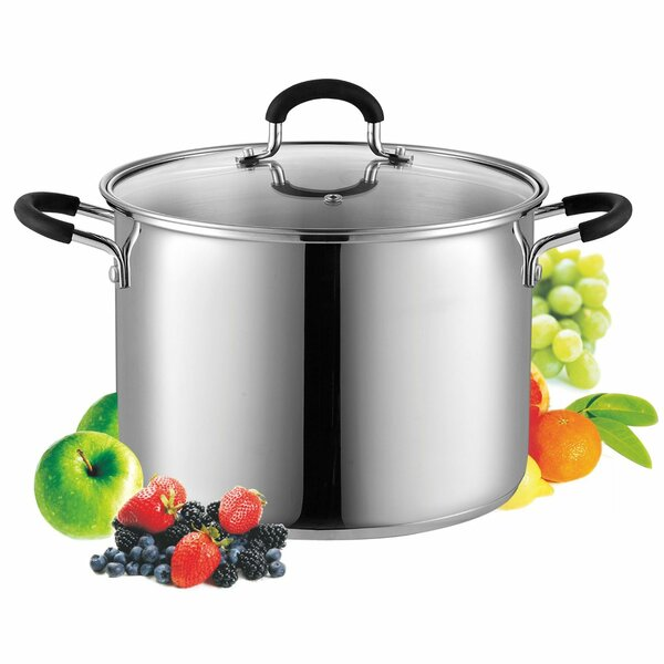 Stainless Steel Stockpot with Lid by Cook N Home