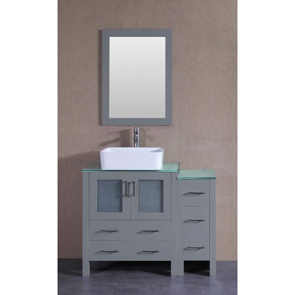 Gallant 42 Single Bathroom Vanity Set with Mirror by Bosconi