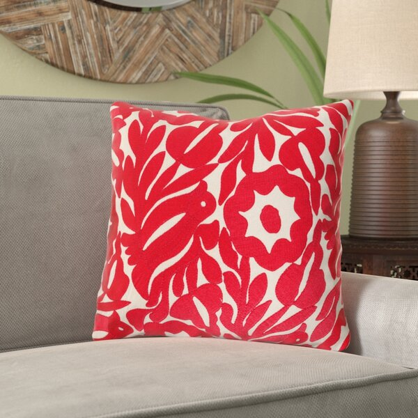 Barwick Floral Cotton Throw Pillow by Bungalow Rose