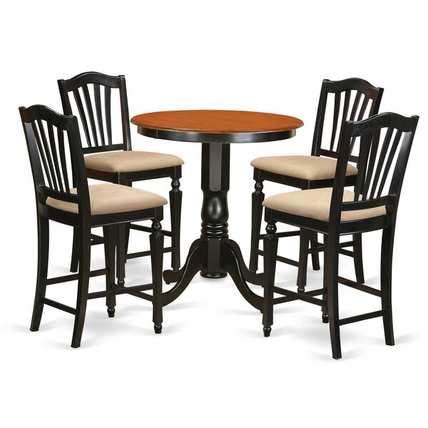 Eden 5 Piece Counter Height Pub Table Set by East West Furniture