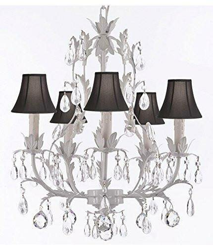 Molinari 5 - Light Shaded Empire Chandelier with Wrought Iron Accents by House of Hampton House of Hampton
