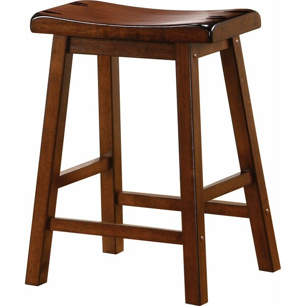 Weisgerber Wooden Casual 23.75 Counter Height Bar Stool (Set of 2) by Millwood Pines