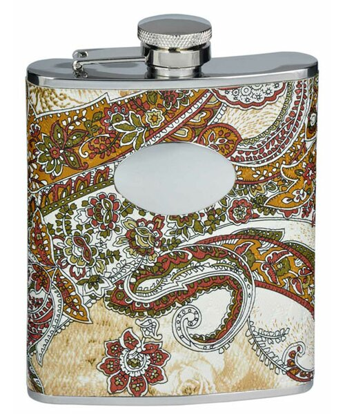 Floral Paisley Pattern Stainless Steel Flask by Visol Products