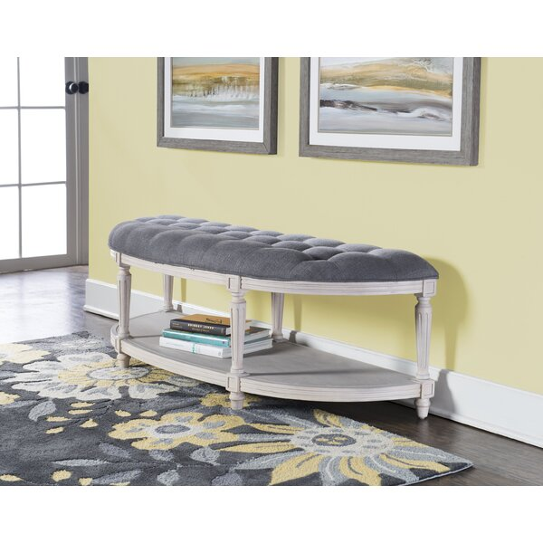Duke Upholstered Bench by One Allium Way