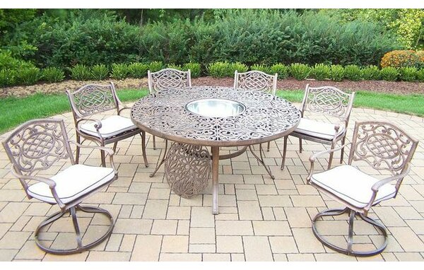 Mississippi 7 Piece Dining Set with Cushions by Oakland Living